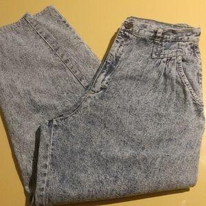 Vtg Acid Wash High Waist Cherokee Jeans 32 16 14